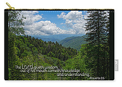 Carry-all Pouch featuring the photograph Wisdom From The Lord by Larry Bishop