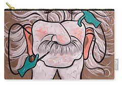 Carry-all Pouch featuring the painting Wisdom Tooth 2 by Anthony Falbo