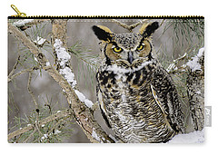 Wise Old Great Horned Owl Carry-all Pouch