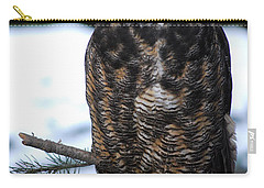 Wise Old Owl Carry-all Pouch by Sharon Elliott