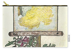 Carry-all Pouch featuring the drawing Wish And Tell by Kim Pate