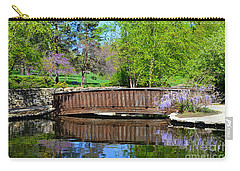 Wisteria In Bloom At Loose Park Bridge Carry-all Pouch
