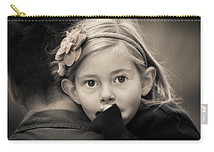 With Dad - B And W Carry-all Pouch