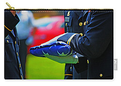 Carry-all Pouch featuring the photograph With Honor by Rowana Ray