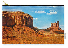 Carry-all Pouch featuring the photograph Witnesses Of Time by Hanny Heim