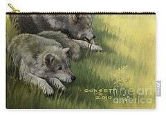 Wolf Gathering Lazy Carry-all Pouch