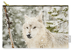 Wolf In Snow Carry-all Pouch