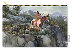 Carry-all Pouch featuring the painting Wolf Maiden by Rob Corsetti