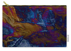 Carry-all Pouch featuring the painting Wolf by Mike Breau