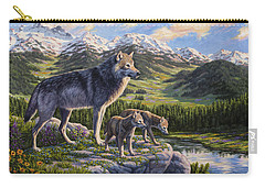 Wolf Painting - Passing It On Carry-all Pouch
