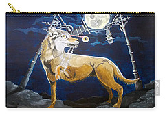 Carry-all Pouch featuring the painting Wolves Mouth  by Lazaro Hurtado