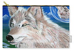 Carry-all Pouch featuring the painting Wolves by Phyllis Kaltenbach