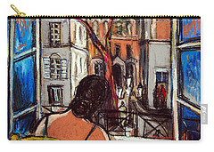 Woman At Window Carry-all Pouch by Mona Edulesco