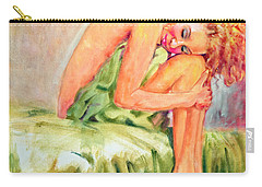 Woman In Blissful Ecstasy Carry-all Pouch by Sher Nasser