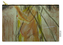 Woman In Sticks Carry-all Pouch by David Trotter