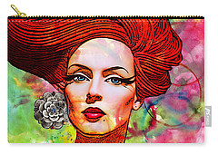 Woman With Earring Carry-all Pouch