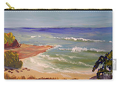 Carry-all Pouch featuring the painting Wombarra Beach by Pamela  Meredith