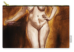 Carry-all Pouch featuring the drawing Women With Curves Are Beautiful 2 by Michael Cross