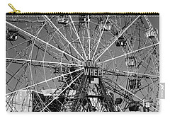 Wonder Wheel Of Coney Island In Black And White Carry-all Pouch