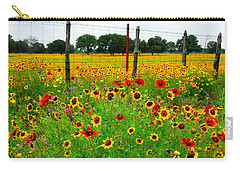 Wonderful Wildflowers Carry-all Pouch by Lynn Bauer
