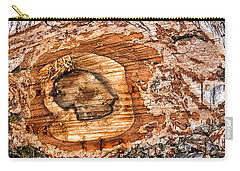 Wood Detail Carry-all Pouch