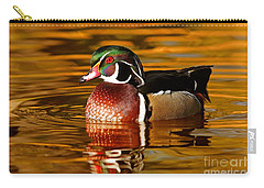 Wood-drake On The Golden Light Carry-all Pouch by Mircea Costina Photography