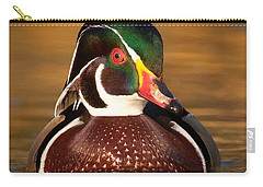 Carry-all Pouch featuring the photograph Wood Duck by Jerry Fornarotto