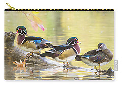 Wood-ducks Panorama Carry-all Pouch by Mircea Costina Photography