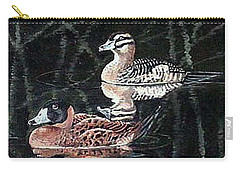 Carry-all Pouch featuring the painting Wood Ducks Study by Donna Tucker