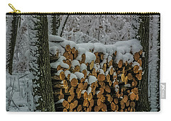 Wood Pile Carry-all Pouch by Paul Freidlund