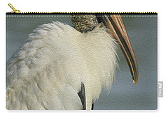 Wood Stork In Oil Carry-all Pouch by Deborah Benoit