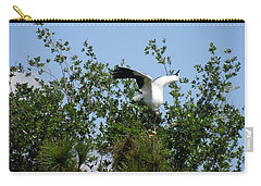 Carry-all Pouch featuring the photograph Wood Stork by Ron Davidson