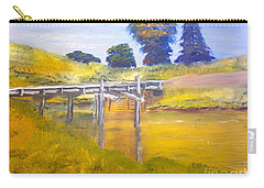 Carry-all Pouch featuring the painting Wooden Bridge At Graften by Pamela  Meredith