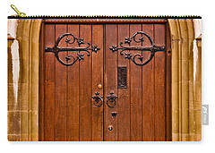 Wooden Door At Tower Hill Carry-all Pouch