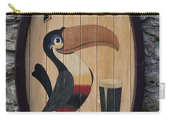 Wooden Guinness Sign Carry-all Pouch by Christiane Schulze Art And Photography