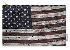 Wooden Textured Usa Flag3 Carry-all Pouch