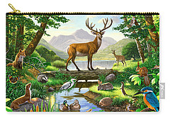 Woodland Harmony Carry-all Pouch by Chris Heitt