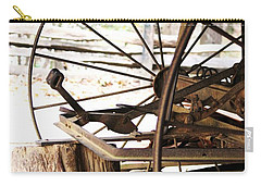 Carry-all Pouch featuring the photograph Woody And Wheely by Faith Williams