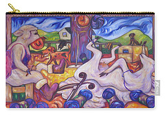 Carry-all Pouch featuring the painting Wool Industry Woes by Dianne  Connolly
