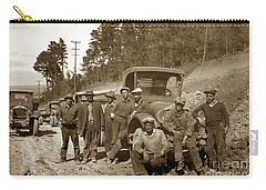 Workers On Highway One Monterey Carmel Hill California 1929 Carry-all Pouch
