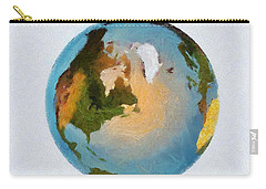 World 3d Globe Carry-all Pouch