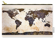 World Map Abstract Carry-all Pouch