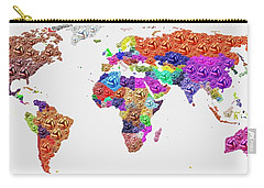 World Map - Soccer Football 2014 Carry-all Pouch