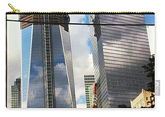 Carry-all Pouch featuring the photograph World Trade Center Twin Tower by Susan Garren
