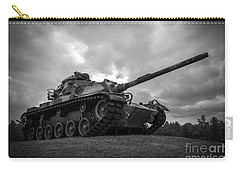 World War II Tank Black And White Carry-all Pouch