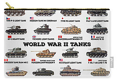 World War II Tanks Carry-all Pouch