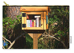 Carry-all Pouch featuring the photograph World's Smallest Library by Gordon Elwell