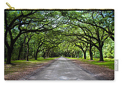 Carry-all Pouch featuring the photograph Wormsloe by Jessica Brawley