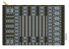 Woven Blue And Gold Mosaic Carry-all Pouch