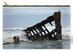 Wreck Of The Peter Iredale Carry-all Pouch by Chalet Roome-Rigdon